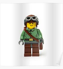 Green Ranger Minifig with goggles Poster
