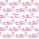 Happy New Year 2019 seamless pattern. Santa Claus by aquamarine-p