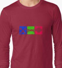 EAT SLEEP LISTEN do something symbol Long Sleeve T-Shirt