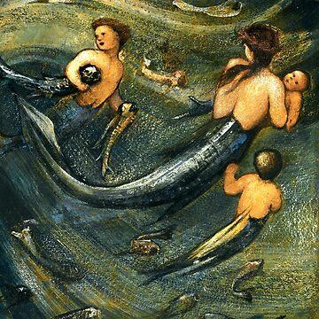 "Edward Burne-Jones ""The Mermaid Family"" by ALD1"