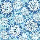 Blue Florals by Rose Halsey