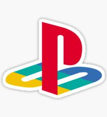 Playstation first colorful logo Sticker
