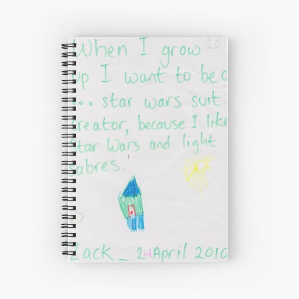 When I grow up . . . I want to be (Zack) Spiral Notebook