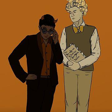 Aziraphale and Crowley by Kielan