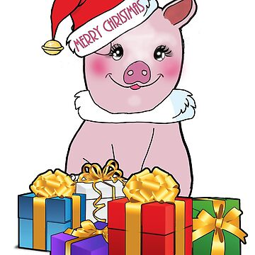 Merry Christmas Piggy 2 by twinkletoes21