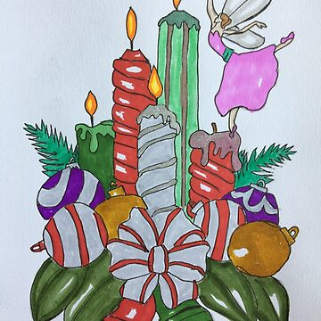 Christmas Candles by twinkletoes21