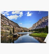 Elk Lake, Beartooth Mountains, Montana Poster
