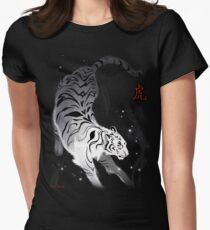 Candle Flies Tiger Women's Fitted T-Shirt