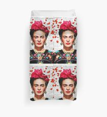 Frida Kahlo blüht Papier Bettbezug