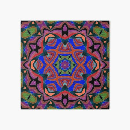 Inverted Colors and Bows Fall Into Winter Design at Green Bee Mee Art Board Print
