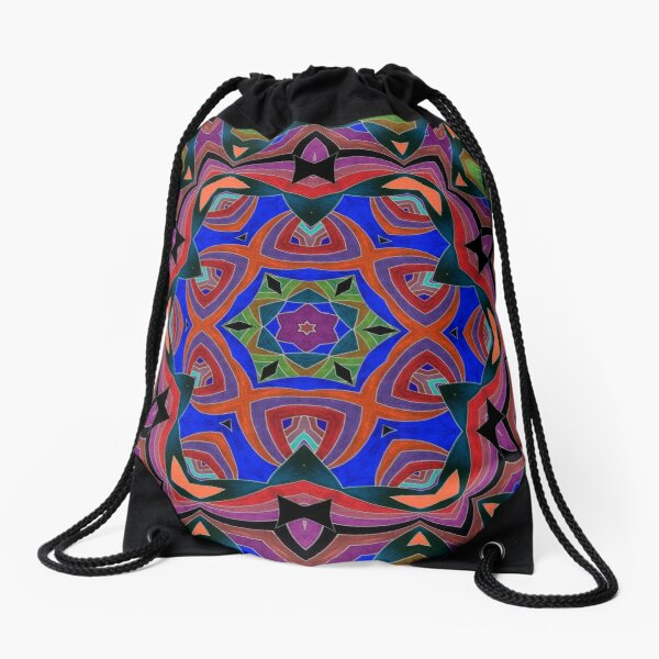 Inverted Colors and Bows Fall Into Winter Design at Green Bee Mee Drawstring Bag