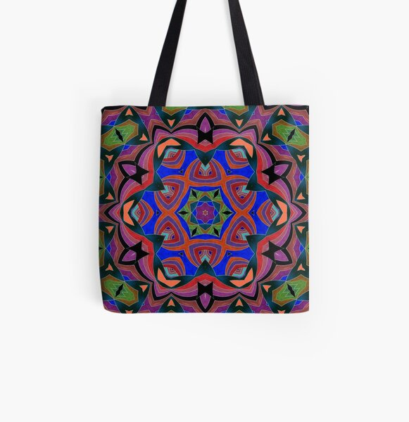 Inverted Colors and Bows Fall Into Winter Design at Green Bee Mee All Over Print Tote Bag