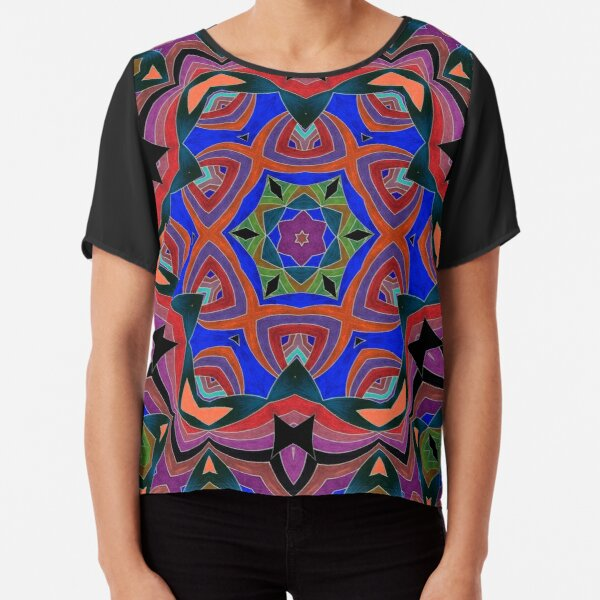 Inverted Colors and Bows Fall Into Winter Design at Green Bee Mee Chiffon Top