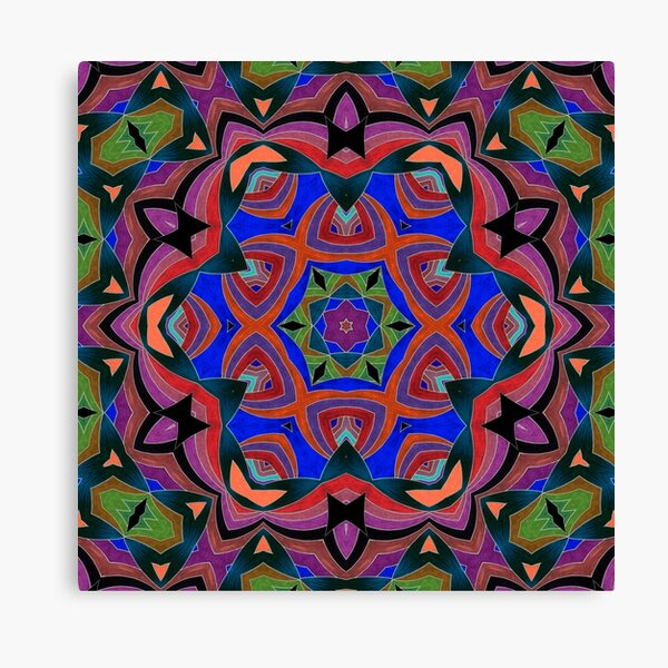 Inverted Colors and Bows Fall Into Winter Design at Green Bee Mee Canvas Print