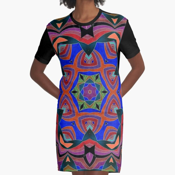 Inverted Colors and Bows Fall Into Winter Design at Green Bee Mee Graphic T-Shirt Dress