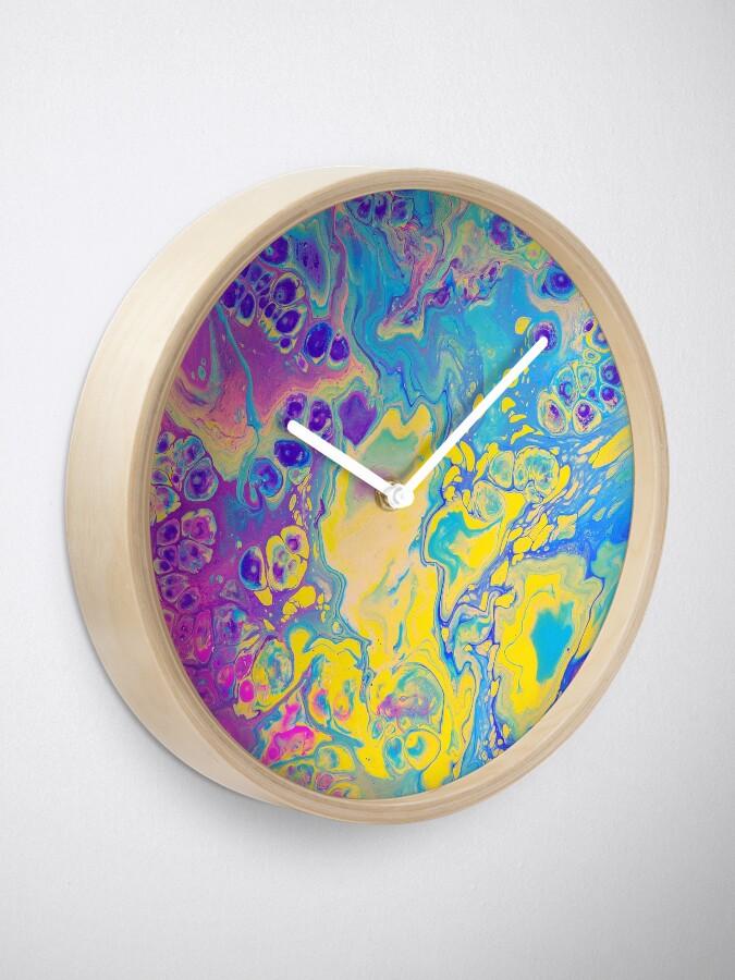Alternate view of Unicorn Vibes Clock