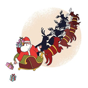 Santa With Reindeers by TFever