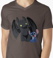 Stitch and Toothless Men's V-Neck T-Shirt