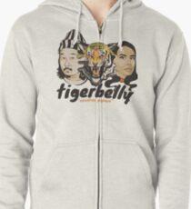 TigerBelly Podcast Design Gift Shirt Tiger Art Zipped Hoodie