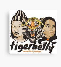 TigerBelly Podcast Design Gift Shirt Tiger Art Canvas Print