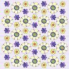 Crazy Daisies Lavender by ShelleyYlstArt