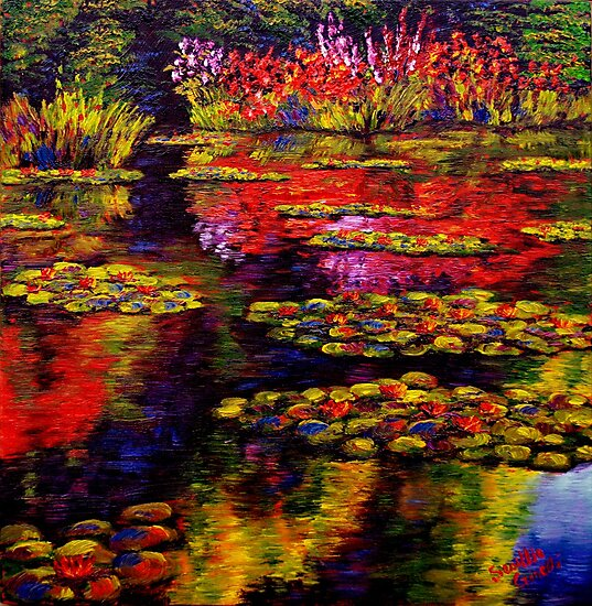 Flowers by Monet's Pond (1502) by sesillie