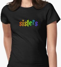 rainbow sisters lightning Women's Fitted T-Shirt