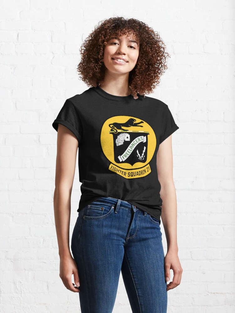 Alternate view of Fighter Squadron Twenty One VF-21 Classic T-Shirt