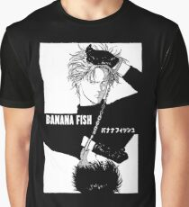 BANANA FISH - Chains B/W Graphic T-Shirt