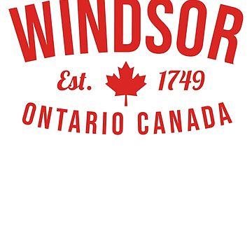 Windsor Ontario Canada Est. 1749 | Windsor Ontario Gifts by n--o--n