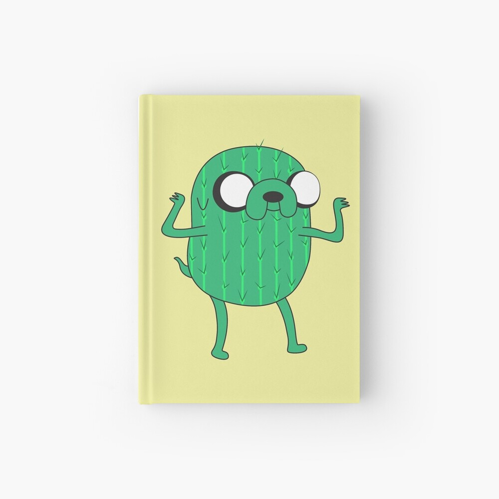 Jake the Dog from AdventureTime with Halloween Cactus costume Hardcover Journal