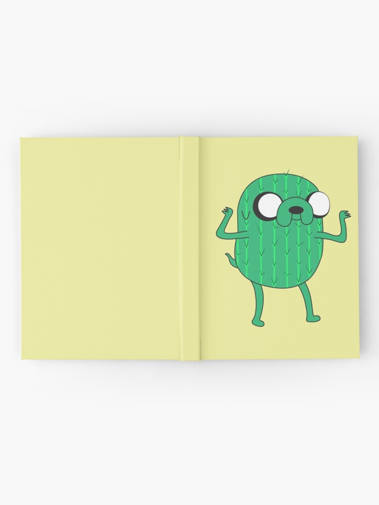 Alternate view of Jake the Dog from AdventureTime with Halloween Cactus costume Hardcover Journal