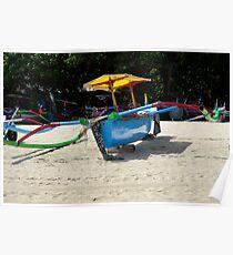 Indonesia 6 - Fishing boat Legian Beach Bali Poster