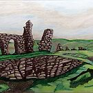 439 - CASTELL DINAS BRAN - DAVE EDWARDS - COLOURED PENCILS - 2018 by BLYTHART