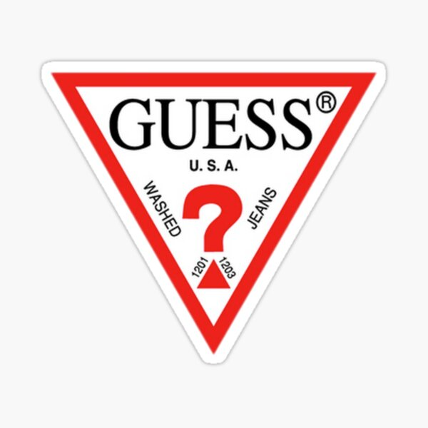 Guess - Triangle - L.A Sticker