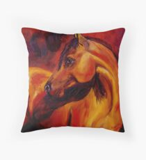 Light on the Horse Throw Pillow