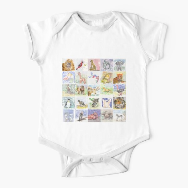 A - Z Animal Land Short Sleeve Baby One-Piece