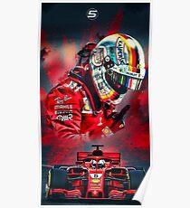 S. Vettel Poster