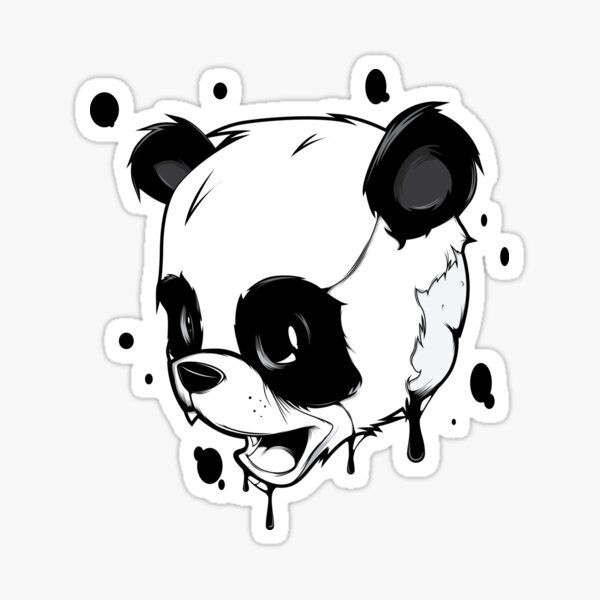 Liquid Panda Sticker