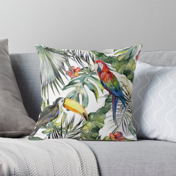 TROPICAL JUNGLE Throw Pillow