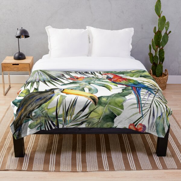 TROPICAL JUNGLE Throw Blanket