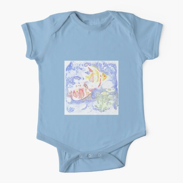 Fish Short Sleeve Baby One-Piece