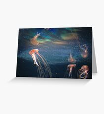 The Berlin Zoo - Jelly Fish Greeting Card