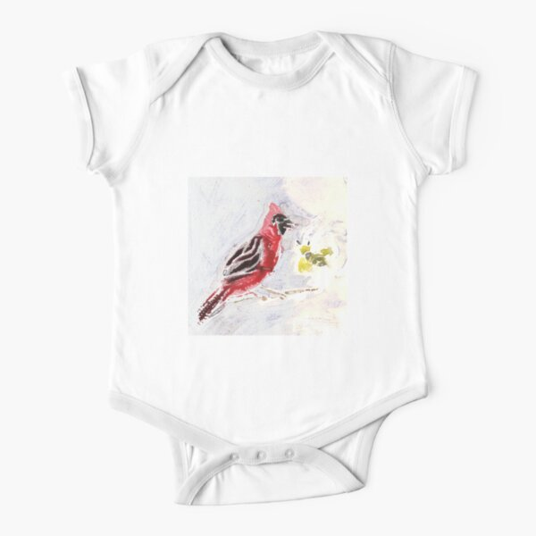 Bird and Bee Short Sleeve Baby One-Piece