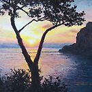 Sunset at the Niceview of Tragara by Patrick Ezechiele Art