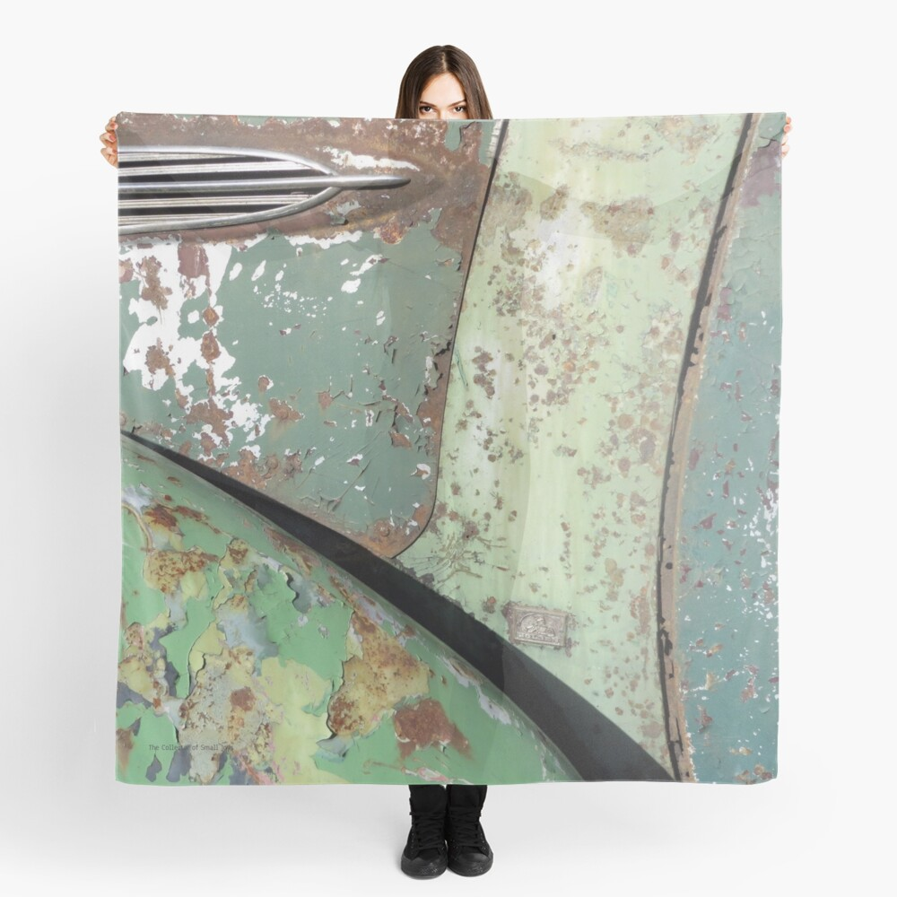 Green and Rust Car #5 Scarf