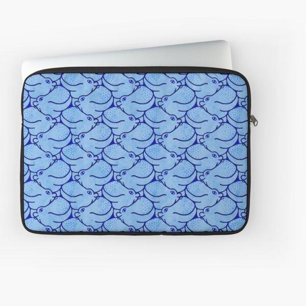 Heads Up Hippos - blue Laptop Sleeve