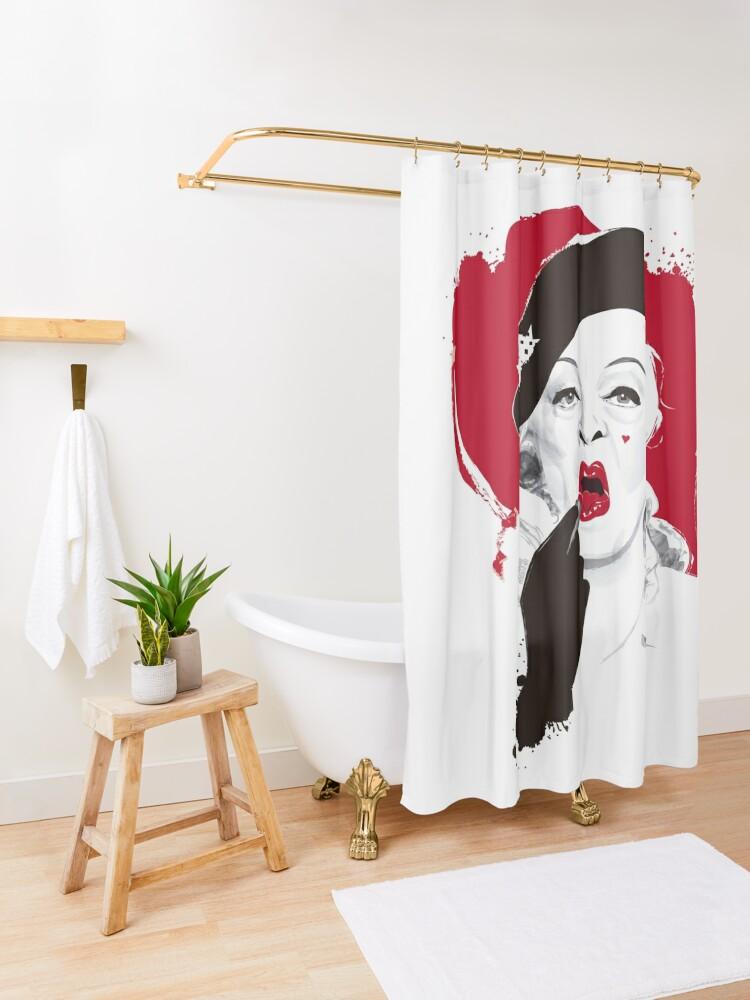 Alternate view of Baby Jane lipstick Shower Curtain