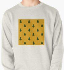 Tannenbäume gelb Sweatshirt