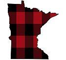 Minnesota in Red Plaid by Sun Dog Montana